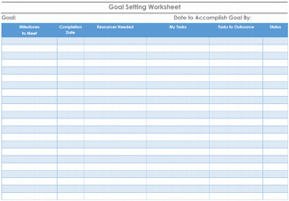 Goal Setting Template Guide