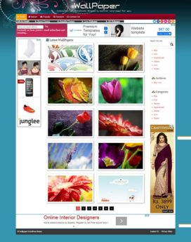 Premium Wallpaper Wordpress Theme V5