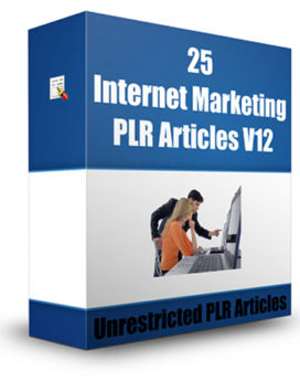 25 Internet Marketing PLR Articles