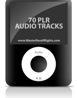 70 Audio Tracks - PLR