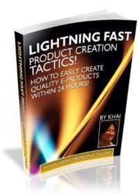 Lightning Fast Product Creation Tactics