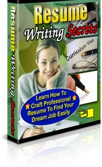 Resume Writing Secrets - PLR