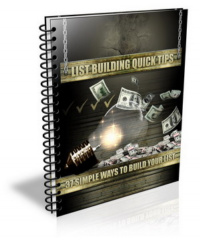list building quick tips - plr