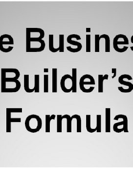 the business builders formula